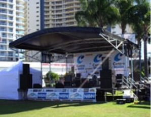 7.2m x 8.4m Portable stage